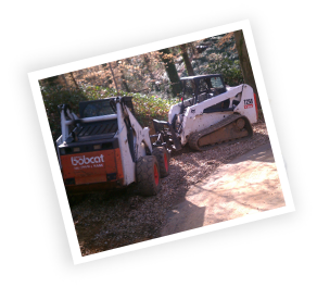lot clearing and bobcat work